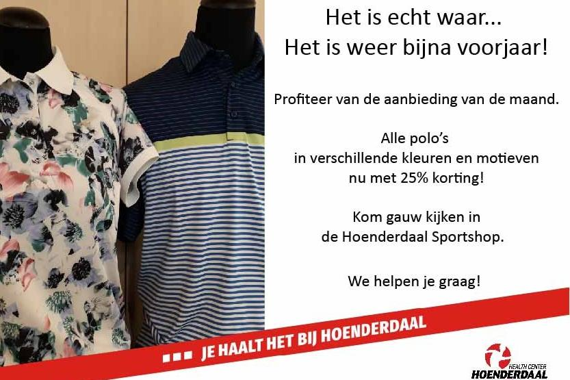 25% korting op alle polo's!