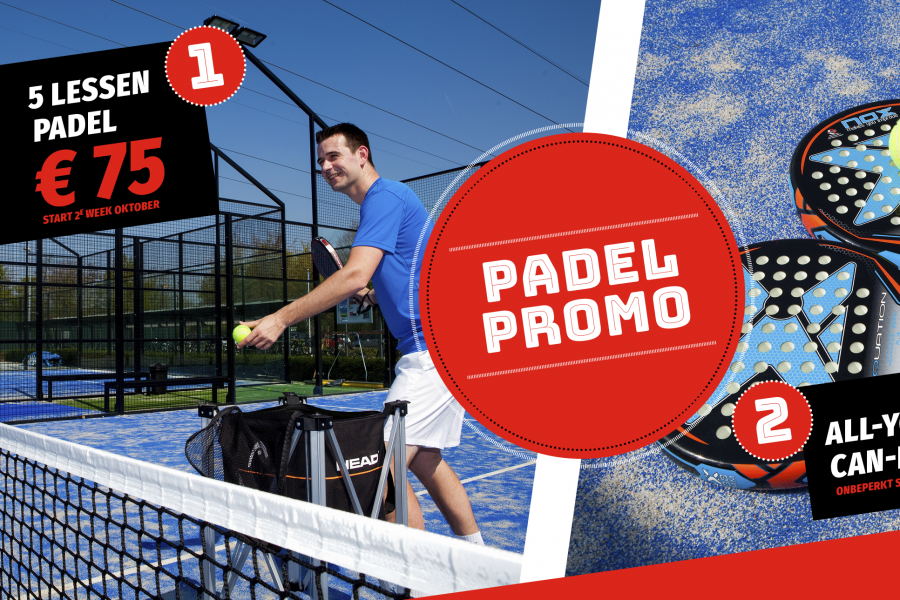 Startcursus padel & all you can padel!