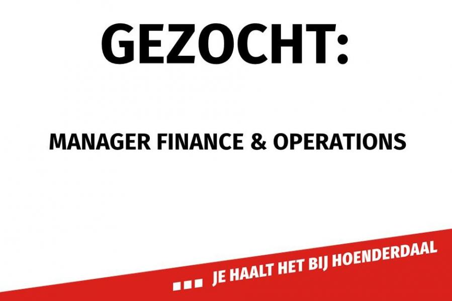 Gezocht: manager finance & operations
