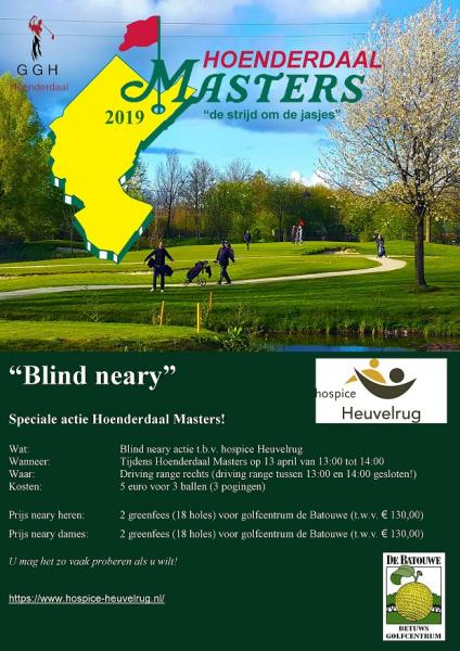 Speciale actie Hoenderdaal Masters t.b.v. hospice Heuvelrug