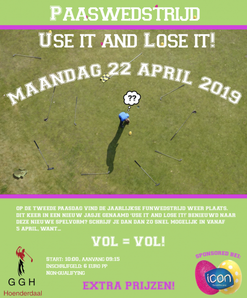 Paaswedstrijd Use it and Lose it!